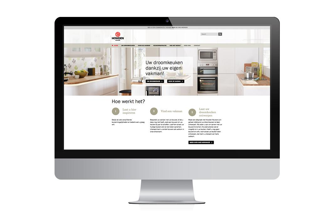 Ontwerp website Howden Keukens Nederland