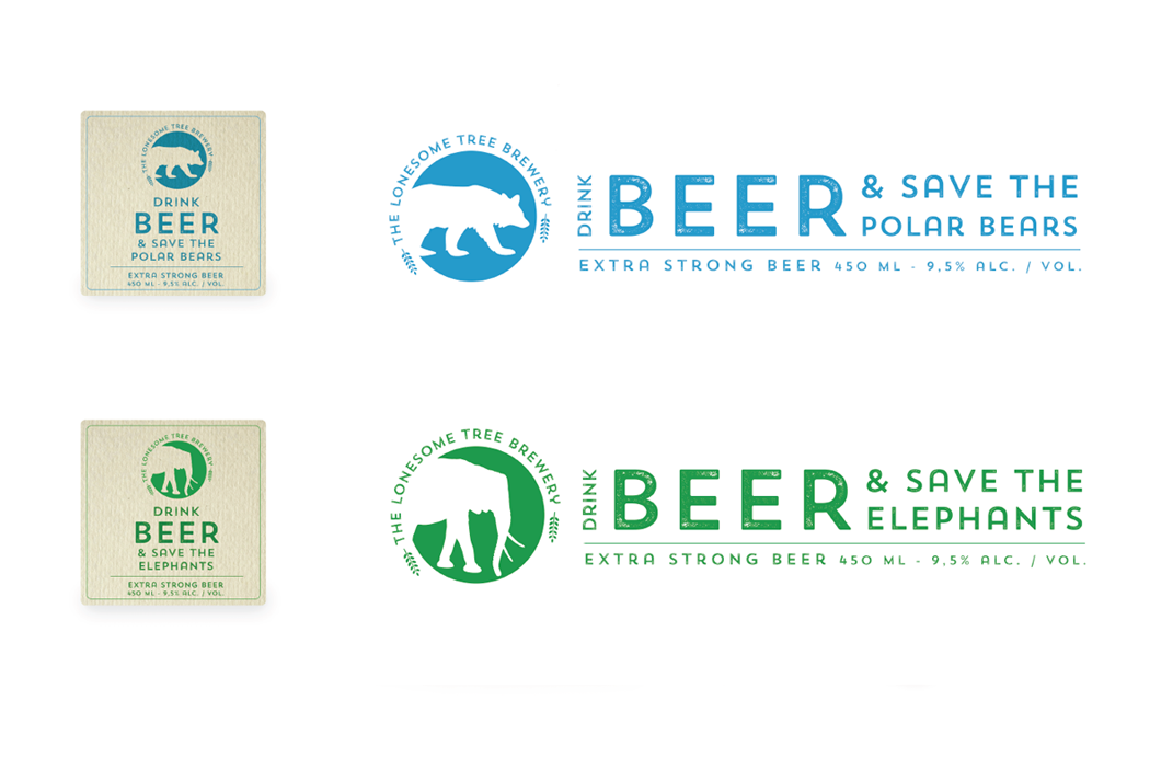 Lonesome Tree Brewery - branding concept
