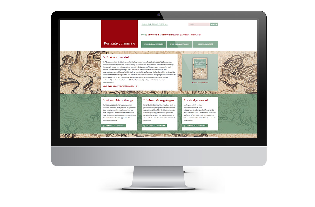 Restitutiecommissie Ontwerp Website & Boekomslag
