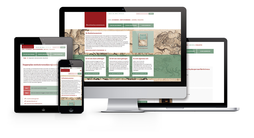 Ontwerp website Restitutiecommissie responsive