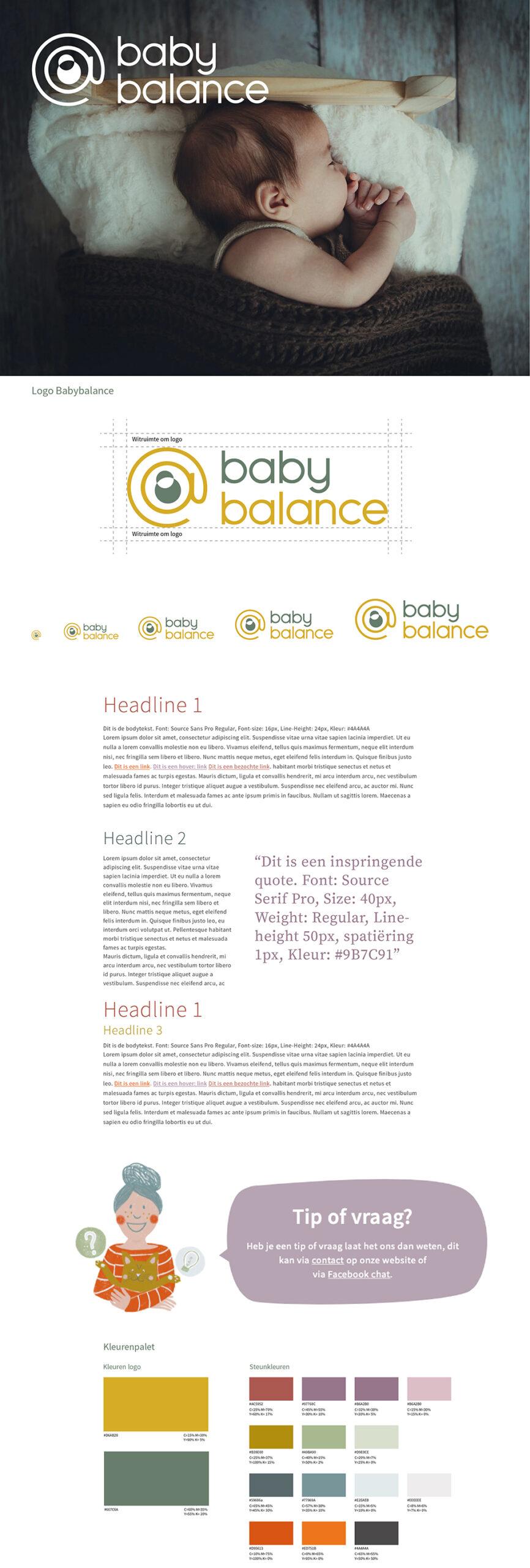 Babybalance Huisstijl / Branding